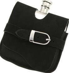 Visol VF3000 Elegance Stainless Steel 5oz Liquor Flask with Suede Wrap   B000KZY8GW