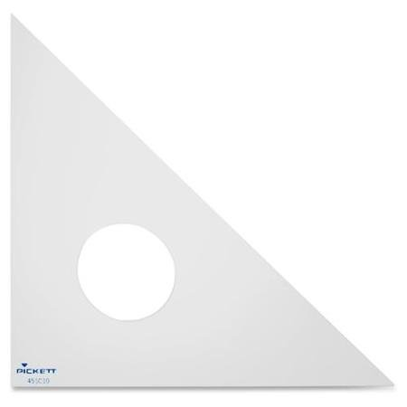 Chartpak Acrylic 10-Inch Triangle, Clear (45SC10) ()