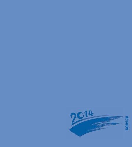 Foto - Malen - Basteln blau mit Folienprägung 2014: Kalender zum Selbstgestalten