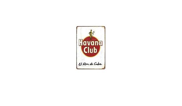 TinSIGNS Letrero de Metal con Texto en inglés Havana Club El ...