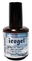 Mia Secret Professional Nail System Ice Gel Acrylic Top Coat No Uv Lamp -