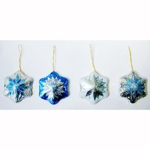 Holiday Snowflake Solid Milk Chocolate Ornaments Gift (1 Doz)