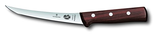 Victorinox Swiss Army Cutlery Rosewood Curved Boning Knife, Flexible Blade, 6-Inch