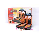 Basketball Hoop Set 2-Player Shooting Game for Desktop or Tabletop, Sports Toy for Home / Office -