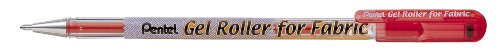 PENBN15B - Gel Roller Pen,f/Fabric,Bold Point,1.0mm,Smudge Free,Red