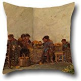 16 X 16 Inch / 40 By 40 Cm Oil Painting Becker Von, Adolf - The Rural Women Pillow Cases ,twin Sides Ornament And Gift To Teens Boys,lover,bf,seat,play Room,boy Friend