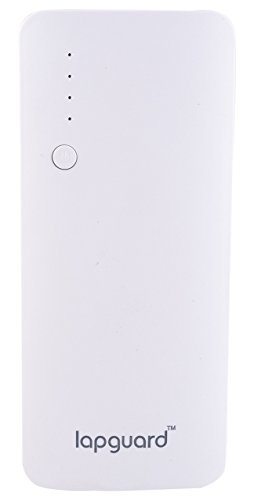 Lapguard Sailing-1510 Power Bank 10400 mAh Make In India portable Charger powerbank – White-Gry