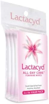 LACTACYD All Day Care Feminine Wipes 10sX3 -Tender Clean and Care, All Day Every Day with Lactacyd All Day Care Wipes.