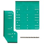 Cabinet and Drawer Hardware Template w/ 3/16'' Drill Bit, Green