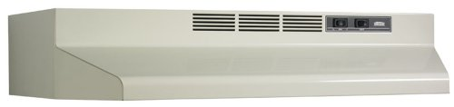 Broan 413002 Ductless Range Hood Insert with Light, Exhaust Fan for Under Cabinet, Bisque White, 30″