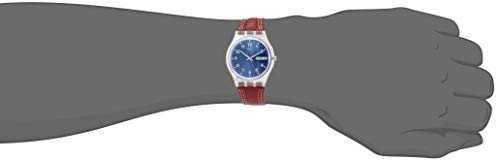 Swatch Men's Analogue Quartz Watch with Leather Strap GE709