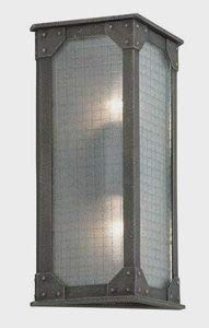 Troy Lighting B3873, Hoboken Outdoor Wall Sconce Lighting, 36 Total Watts, Aged Pewter