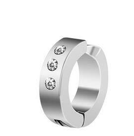 ≫1Pair for Women Men Earring No Pierced Ears 8Mm Sandbars Stainless Steel Stud Earrings Personalized Silver Jewelry (Gold-Color)