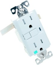 EATON Wiring TWRVGF15W 15-Amp 2-Pole 3-Wire 125-Volt Tamper and Weather Resistant Ground Fault Circuit Interrupter Duplex, White