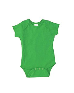 Rabbit Skins Infant Baby Rib Lap Shoulder Bodysuit-NB (Apple)