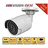4K PoE Security IP Camera - Compatible with Hikvision DS-2CD2085FWD-I UltraHD 8MP Bullet Onvif IR Night Vision Weatherproof 2