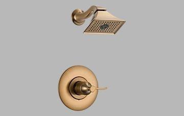 Brizo RSVP Brushed Bronze Pressure Balance Shower Trim