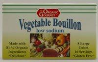 The Organic Gourmet Low Sodium Bouillon Cubes Vegetable -- 8 Cubes by The Organic Gourmet