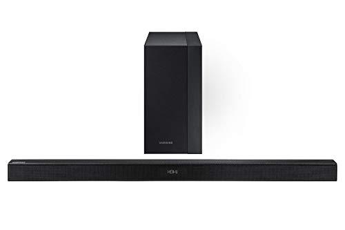 Samsung Barra de Sonido Sistema con 2.1 Canales, 300W de Potencia, Bocina Subwoofer Inalámbrica y Bluetooth HW-KM45...