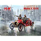 (ICM 24017 Model T 1914 FIRE Truck with Crew Plastic Model KIT 1/24 Scale)