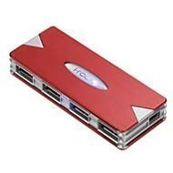 Irocks Red USB 2.0 Illuminated 4PORT Hub