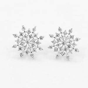 QFJCNZ Orecchini Orecchini A Bottone A Forma di Cuore con Cristalli di Perle di Cristallo E Ali dAngelo Geometria per Gioielli con Orecchini A Forma di Orecchini da Donna