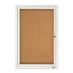 Quartet Enclosed Cork Indoor Bulletin Board, 2 x 3 Feet, Aluminum Frame (2363) (Enclosed Aluminum Board Bulletin Indoor)