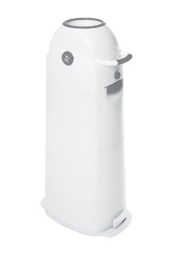 Diaper Champ 4031L Nappy Bin Large Capacity 75 Nappies White / Silver Vital Innovations