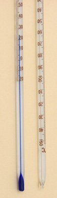 SEOH Thermometer Blue Spirit Partial Immersion -20 to 110C Single Scale pk 10
