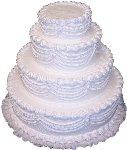 20'' 4 Tier Stacked Fake Wedding Cake Fake Food