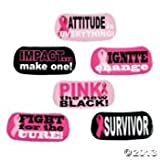 72 Cool PINK RIBBON/FACE TATTOOS/6 Sheets of 12/Breast Cancer AWARENESS/SURVIVOR/Pink is the NEW BLACK/FUNDRAISER/PARTY FAVORS/6 DOZEN/Fight LIKE A Girl/Fight