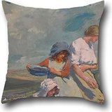 Oil Painting Elizabeth Forbes - Blackberry Gathering Throw Cushion Covers ,best For Relatives,living Room,christmas,indoor,her,pub 16 X 16 Inches / 40 By 40 Cm(twice Sides) -