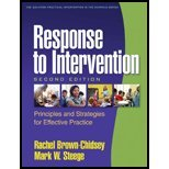 Response to Intervention (2nd, 10) by PhD, Rachel Brown-Chidsey - Phd, Mark W Steege [Paperback (2010)]