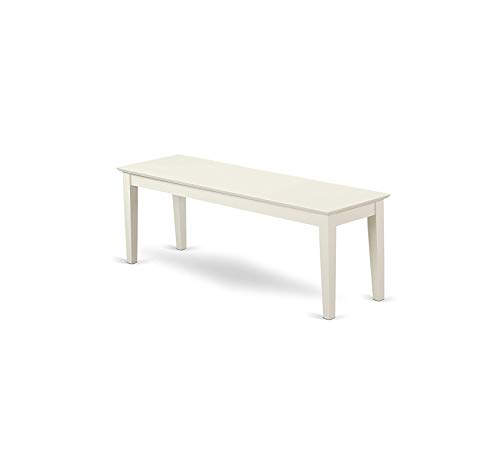 Wood & Style Furniture Capri Bench, Linen White Home Office Commerial Heavy Duty Strong Décor