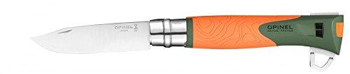 Opinel Explore Sandvik Stainless Steel Knife, Orange (Polyamide Handle Black Blade)