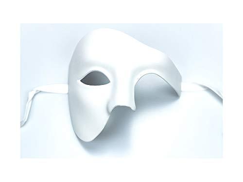 Yacanna Masquerade Mask for Men White Blank Phantom