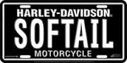 Harley Davidson SOFTAIL METAL AUTO License Plate-Officially - Harley Davidson Plate Metal License