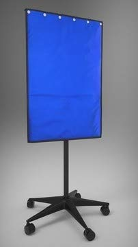 (X-Ray Mobile Shield - Porta-Shield Solid Panel, 5-Caster Base, 0.5mm Protection, Overall 24