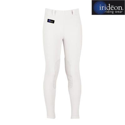 (Irideon Cadence Stretch-Cord Breeches - Kids Knee Patch - Color:White Size:Mediu)