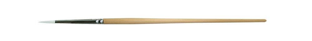 0036 Size 2/0 White Taklon Round Artist Brush (12 Brushes/Pack) - GB-0036-00200P