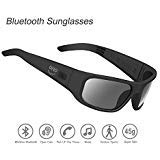 Waterproof Bluetooth Sunglasses,Open Ear Wireless Sunglasses with Polarized UV400 Protection Safety Lenses,Unisex Design Sport Headset for All Smart Phones (Dark Smoke Polarized)