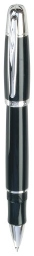 Resin Roller Pen (Waterford Pallas Solid Capped Roller Ball Pen, Black Resin Barrel with Platinum-Plated Accents (WF/553/BLK))