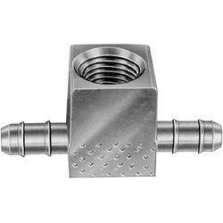 Honeywell CCT1614B//U in Line Gauge Tee 1//8 FPT 1//4 x 1//4 Barbed