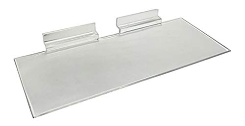Set of 10 Clear Slatwall Shelves 10 Inches Wide x 4 Inches Deep Retail Display