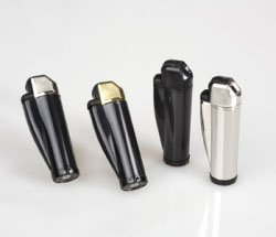 Imco Refillable Pipe Lighters by IMCO Set of 2 - 1 Black / 1 Chrome