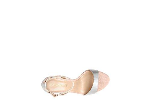 PERLA Sandal mm NUDE und Satin Cafè Geschlossen Noir 80 Mikrofaser Hinter in KNB959 2399 Ez7qzSY