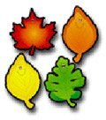 Colorful Cut-outs Leaves 36/pk by Frank Schaffer Publications/Carson Dellosa - Cut Outs Colorful Leaves