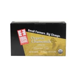 Equal Exchange Organic Herbal Tea Chamomile - 20 Tea Bags 4 Organic ChamomileCalming Chamomile soothes the mind and quiets the spirit Equal Exchange