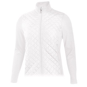 Monterey Club Ladies Quilted Microfiber Foil Dotty Jacket #2786 (White, 2X-Large) ()