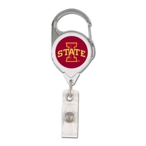 (WinCraft NCAA Iowa State Cyclones Retractable Premium Badge Holder, Team Color, One Size)